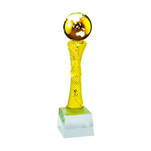 Globe Sculpture Trophies CTIMT608- Golden Globe Sculpture