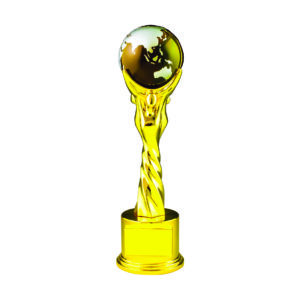Globe Sculpture Trophies CTIMT128Y – Yellow Globe Sculpture