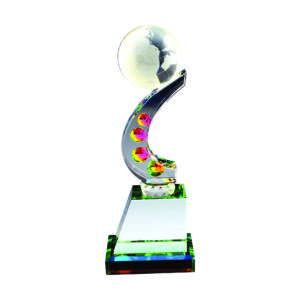 Crystal Globe Trophies CTICT062– Exclusive Crystal Globe Trophy