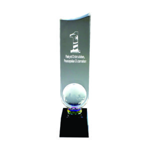 Crystal Globe Trophies CTICT059– Exclusive Crystal Globe Trophy