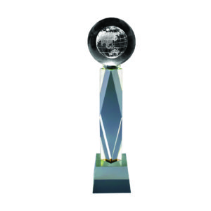 Crystal Globe Trophies CTICT015– Exclusive Crystal Globe Trophy