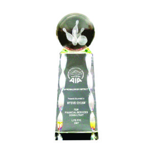 Crystal Globe Trophies CTICT017– Exclusive Crystal Globe Trophy