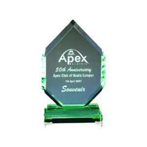 Elegant Jade Crystal Plaques CTIJP001 – Exclusive Crystal Jade Award
