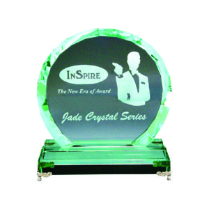 Elegant Jade Crystal Plaques CTIJP006 – Exclusive Crystal Jade Award