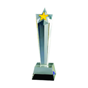 Star Crystal Trophies CTICA335 – Exclusive Crystal Star Trophy