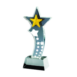 Star Crystal Trophies CTICA336 – Exclusive Crystal Star Trophy