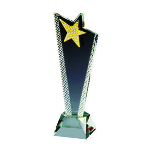 Star Crystal Trophies CTICA339 – Exclusive Crystal Star Trophy