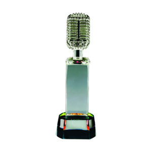 Singing Competition Crystal Trophies CTICC131 – Exclusive Singing Crystal Trophy