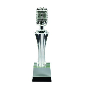 Singing Competition Crystal Trophies CTICT525 – Exclusive Singing Crystal Trophy