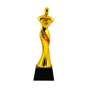 Beauty Pageant Sculpture Trophies CTIFF135 – Golden Beauty Pageant Sculpture