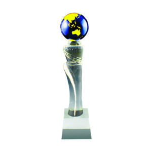 Crystal Globe Trophies CTICT139 – Exclusive Crystal Globe Trophy