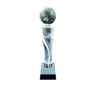 Crystal Globe Trophies CTICT085 – Exclusive Crystal Globe Trophy