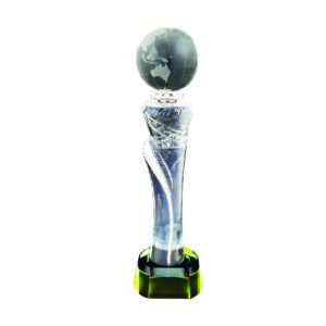Crystal Globe Trophies CTICT087 – Exclusive Crystal Globe Trophy
