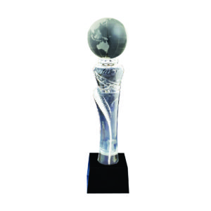 Crystal Globe Trophies CTICT089 – Exclusive Crystal Globe Trophy