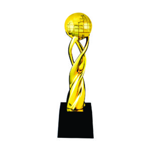 Globe Sculpture Trophies CTIFF207 – Golden Globe Sculpture