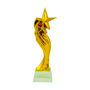 Star Sculpture Trophies CTIFF144 – Golden Star Sculpture