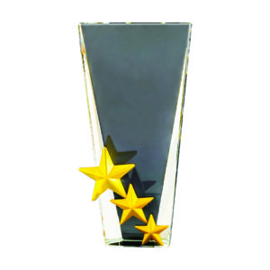 Star Crystal Plaques CTICA358 – Exclusive Crystal Star Award