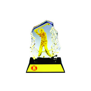 Golf Competition Crystal Trophies CTICM008 – Exclusive Crystal Golf Award