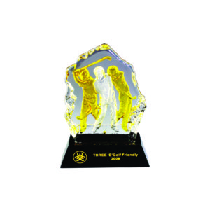 Golf Competition Crystal Trophies CTICM009 – Exclusive Crystal Golf Award