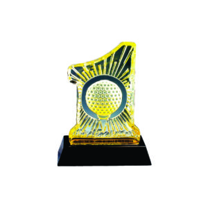 Golf Competition Crystal Trophies CTICM031 – Exclusive Crystal Golf Award
