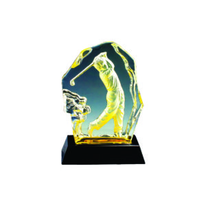 Golf Competition Crystal Trophies CTICM034 – Exclusive Crystal Golf Award