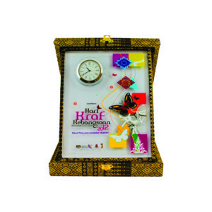 Songket Box Series CTICQ029 – Exclusive Crystal Clock with Songket Box Award