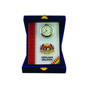 Songket Box Series CTICQ029-57 – Exclusive Crystal Clock with Songket Box Award