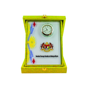 Songket Box Series CTICQ029-46 – Exclusive Crystal Clock with Songket Box Award