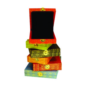 Wooden Boxes Songket Plaques CTIWW102 – Exclusive Special Wooden Songket Boxes