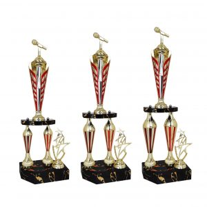 Singing Competition Acrylic Trophies CTAC4040 – Acrylic Microphone & Star Trophy