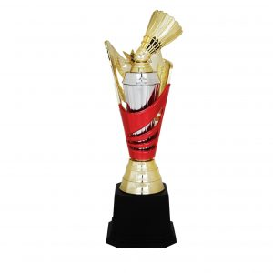 Badminton Competition Acrylic Trophies CTAC4068 – Acrylic Badminton + Star Trophy