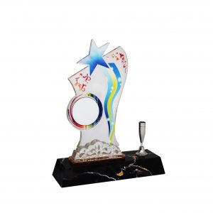 Acrylic Plaques with Pen Holders CTAC4134 – Acrylic Star Plaque