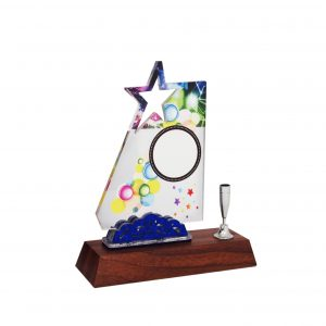 Acrylic Plaques with Pen Holders CTAC4137 – Acrylic Star Plaque
