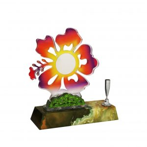 Acrylic Plaques with Pen Holders CTAC4138 – Acrylic Hibiscus Plaque