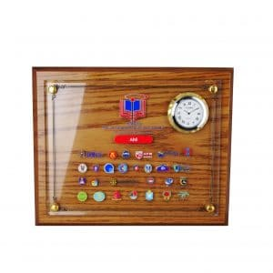 Wooden Clock Plaques CTCL2028 – Wooden Plaque With Crystal Clock