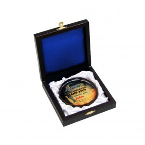 Crystal Medals with Wooden Boxes CTCR8116 – Wooden Box With Crystal Medal