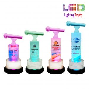 Singing Competition LED Trophies CTCR8270 – Exclusive LED Crystal Microphone Trophy
