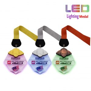Hexagonal LED Medals CTCR8304 –  Exclusive LED Medal