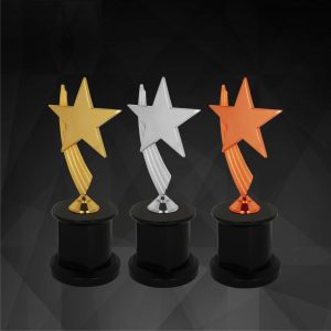 Plastic Star Trophies CTCR9147 – Exclusive Star Awards (GOLD, SILVER, BRONZE)