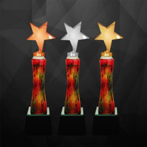 Plastic Star Trophies CTCR9236 – Exclusive Star Awards (GOLD, SILVER, BRONZE)