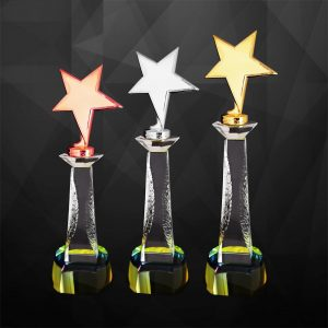 Plastic Star Trophies CTCR9237 – Exclusive Star Awards (GOLD, SILVER, BRONZE)