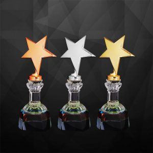 Plastic Star Trophies CTCR9238 – Exclusive Star Awards (GOLD, SILVER, BRONZE)