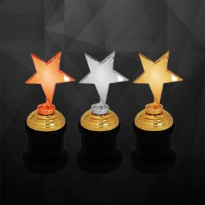 Plastic Star Trophies CTCR9239 – Exclusive Star Awards (GOLD, SILVER, BRONZE)