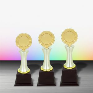 Gold colored White Silver Trophies CTEXWS6006 – Exclusive Gold White Silver Trophy