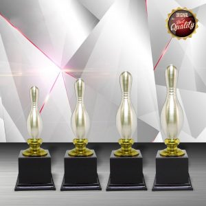 Silver Bowling Trophies CTEXWS6032 – Exclusive White Silver Bowling Trophy
