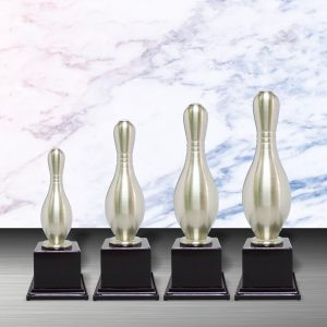 Silver Bowling Trophies CTEXWS6034 – Exclusive White Silver Bowling Trophy