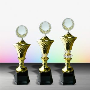 Gold colored White Silver Trophies CTEXWS6051 – Exclusive Gold White Silver Trophy