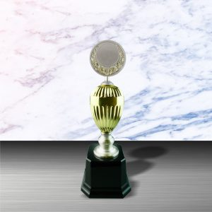 Gold colored White Silver Trophies CTEXWS6053 – Exclusive Gold White Silver Trophy