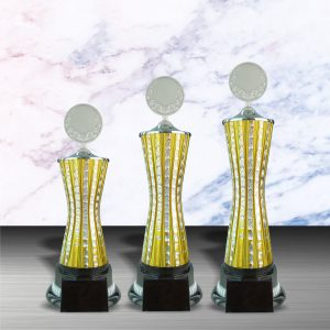 Gold colored White Silver Trophies CTEXWS6059 – Exclusive Gold White Silver Trophy
