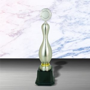 Silver Bowling Trophies CTEXWS6070 – Exclusive White Silver Bowling Trophy